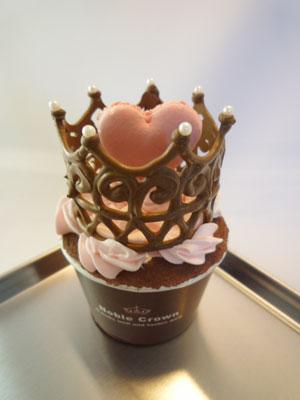 王冠ハートカップケーキ