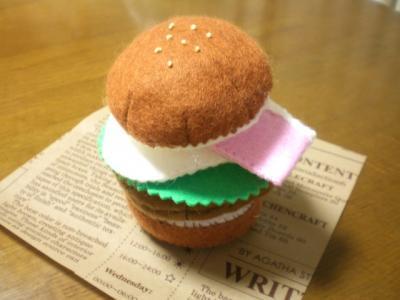 【フエルト玩具】ハンバーガーのセット その1