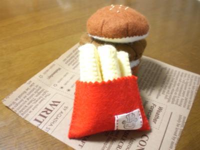 【フエルト玩具】ハンバーガーのセット その3