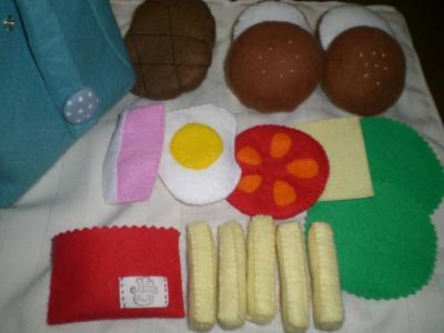【フエルト玩具】ハンバーガーのセット その4
