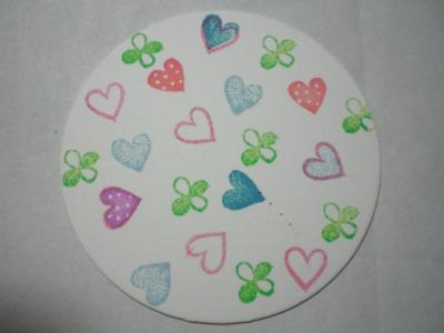 はんこ de コースター pop hearts