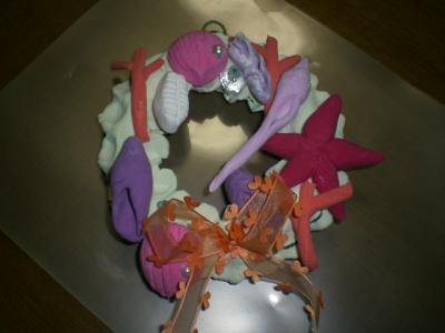 貝殻リース 長女作品
