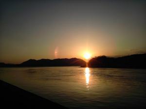 2012年2月27日の夕日