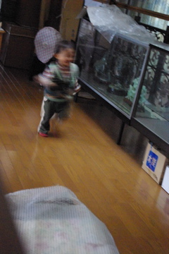 廊下を走る