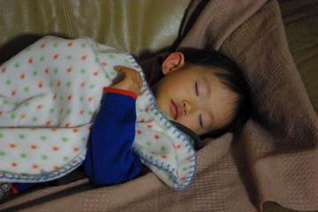 寝てる今日の奏ちゃん