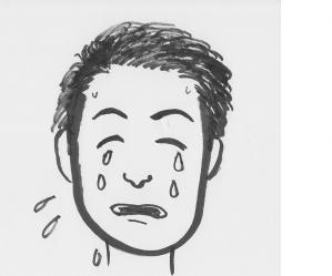 店長泣き顔