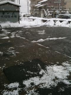 駐車場 雪かき後