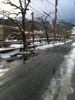 1月16日 城崎温泉雪の状況