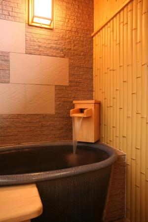 信楽焼きの陶器の風呂♪