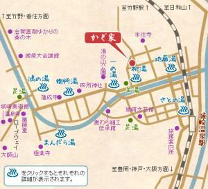旬彩酒肴遊心 「かど家」位置図