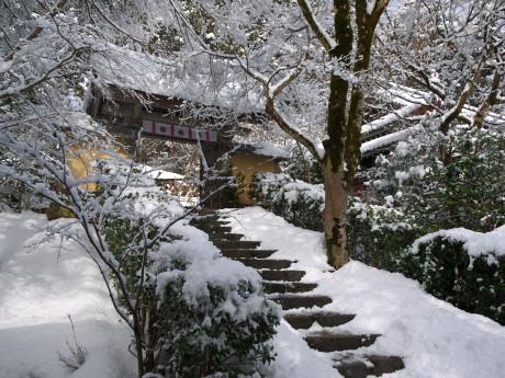 24寂光院-参道斜め
