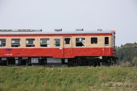 いすみ鉄道 キハ52-125 有名な踏み切り 2011/4/30