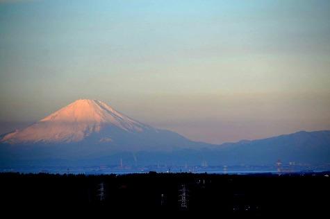 御十八夜の初日の出(4)富士山-2
