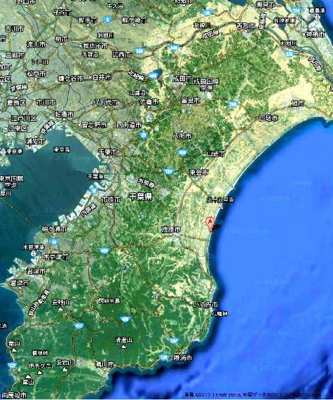 千葉県長生郡白子町中里 カラオケアーサー白子店 2- Google マップ0001
