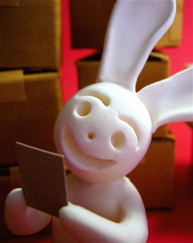 写真ニヤニヤウサギ