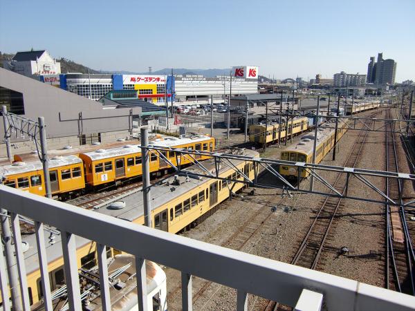 近江鉄道?彦根駅から撮った写真2