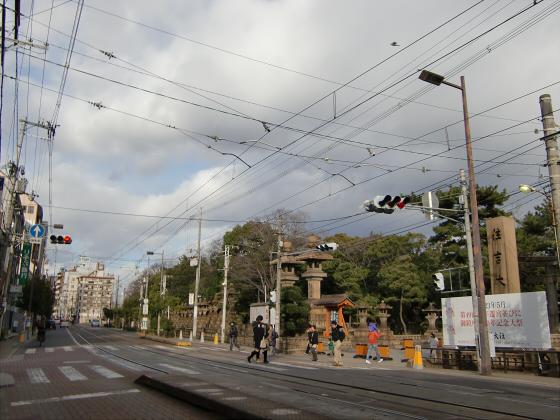 阪堺電車で住吉大社01