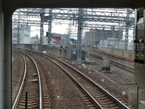 光明池車庫までのフロント風景(南海電車)02