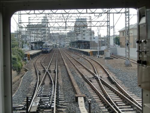 光明池車庫までのフロント風景(南海電車)06