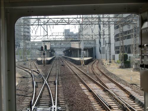 光明池車庫までのフロント風景(南海電車)08