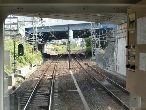 光明池車庫までのフロント風景(南海電車)09