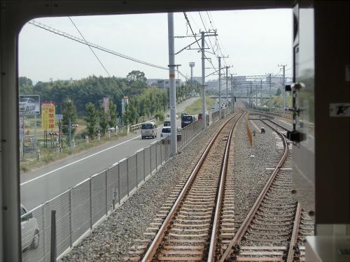 光明池車庫までのフロント風景(南海電車)15