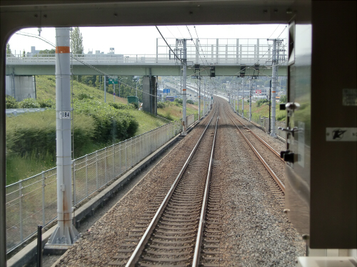光明池車庫までのフロント風景(南海電車)17