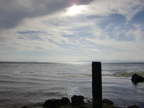 長浜城と近くの湖岸2