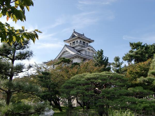 長浜城と近くの湖岸5