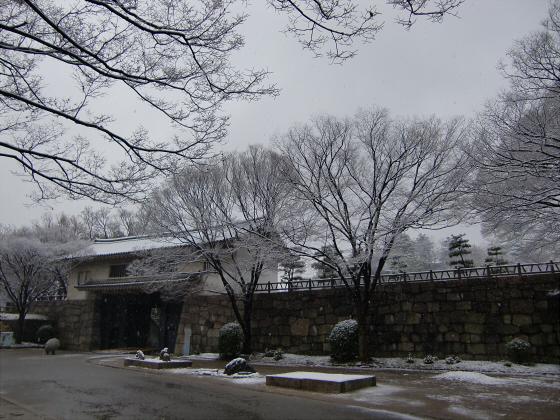 雪化粧の大阪城04