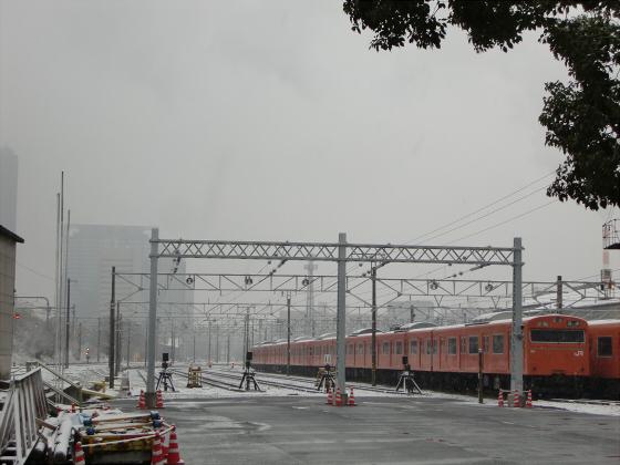 雪化粧の大阪城06