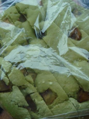 抹茶甘栗米粉パン