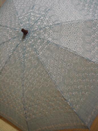 麻混の日傘