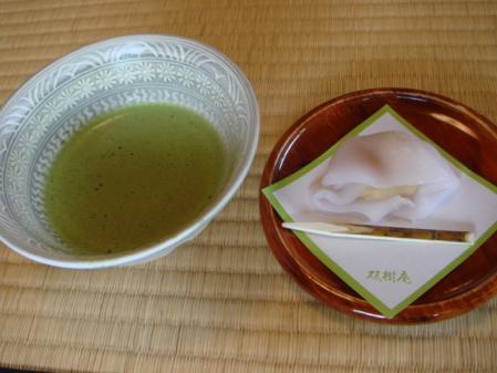 本日の和菓子とお茶!