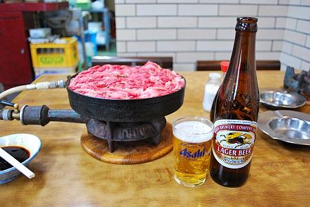 牛肉鉄鍋&キリン小