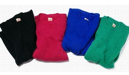 EVEREST Shetland Sweater/Vermeerist BEAMS