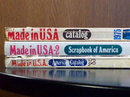 雑誌「MADE IN U.S.A catalog」。