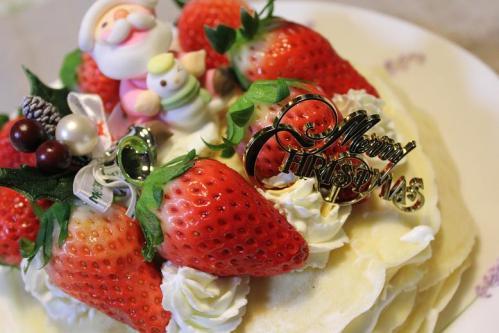 20101224娘作ミルフィーユクリスマスケーキ