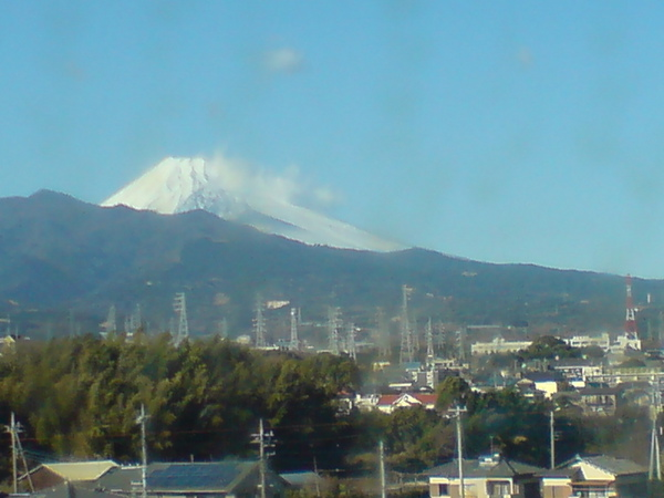 良いお天気で富士山がきれい!