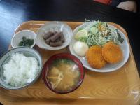 タココロッケ定食