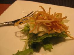 パリパリ麺のサラダ