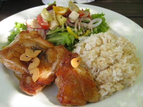 チキンソテーwith玄米ご飯