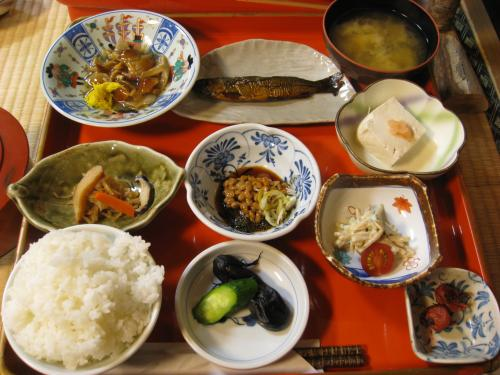 鶴の湯 朝食