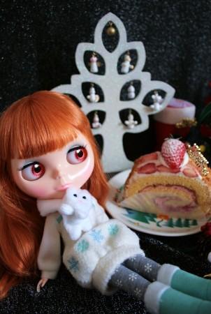 クリスマスピンクケーキ