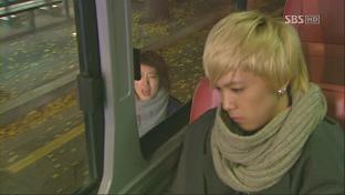 バスを追う