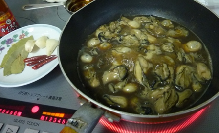 牡蠣のオイル漬け2