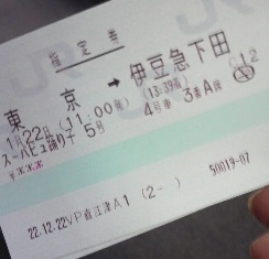 伊豆旅行切符