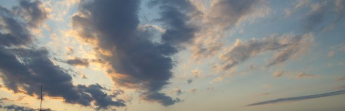 一点透視法の雲