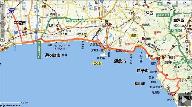 平塚~湘南国際村 ルート図