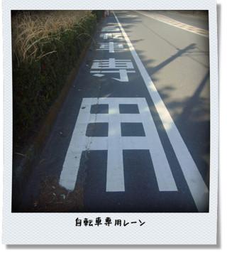 自転車専用レーン 写真風